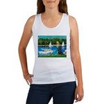 Sailboats / Flat Coated Retri Women's Tank Top