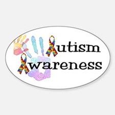 Autism Awareness Oval Stickers