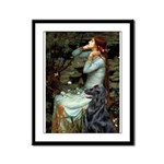 Ophelia / Flat Coated Retriev Framed Panel Print