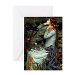 Ophelia / Flat Coated Retriev Greeting Card