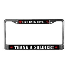 Thank a Soldier License Plate Frame