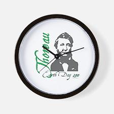 Thoreau Earth Day Wall Clock