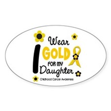 I Wear Gold 12 Daughter CHILD CANCER Decal