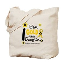 I Wear Gold 12 Daughter CHILD CANCER Tote Bag