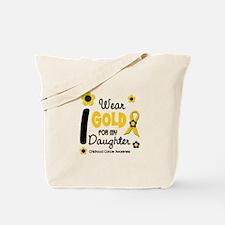 I Wear Gold 12 Daughter CHILD CANCER Tote Bag