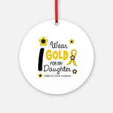 I Wear Gold 12 Daughter CHILD CANCER Ornament (Rou