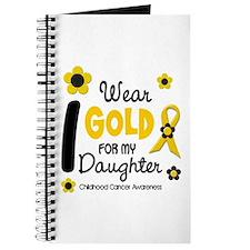 I Wear Gold 12 Daughter CHILD CANCER Journal