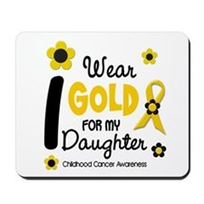 I Wear Gold 12 Daughter CHILD CANCER Mousepad