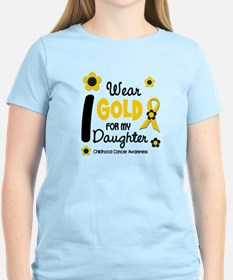 I Wear Gold 12 Daughter CHILD CANCER T-Shirt