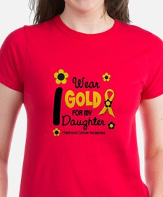 I Wear Gold 12 Daughter CHILD CANCER Tee