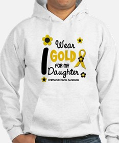 I Wear Gold 12 Daughter CHILD CANCER Hoodie