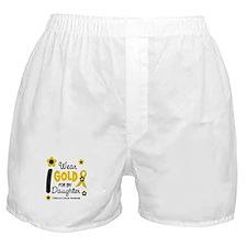 I Wear Gold 12 Daughter CHILD CANCER Boxer Shorts