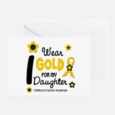 I Wear Gold 12 Daughter CHILD CANCER Greeting Card