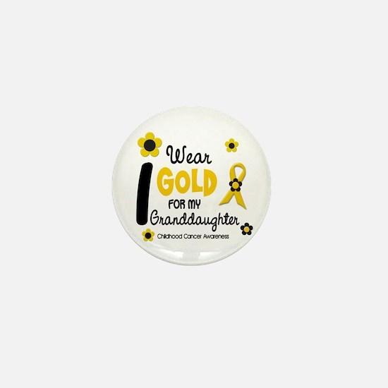 I Wear Gold 12 Granddaughter Mini Button