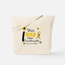 I Wear Gold 12 Granddaughter Tote Bag