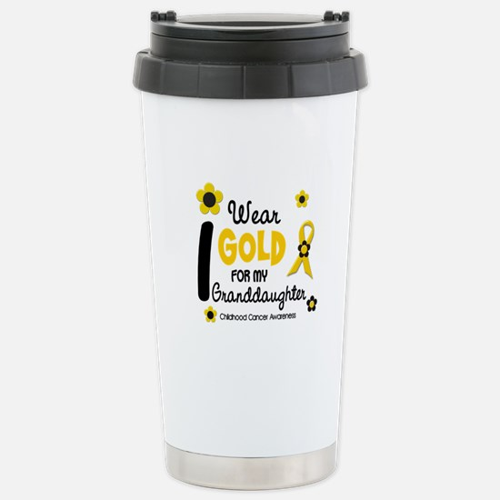 I Wear Gold 12 Granddaughter Stainless Steel Trave