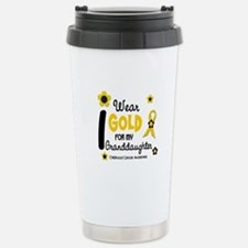 I Wear Gold 12 Granddaughter Travel Mug