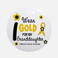 I Wear Gold 12 Granddaughter Ornament (Round)