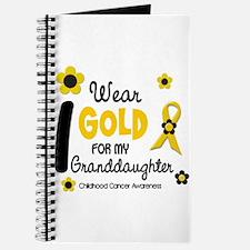 I Wear Gold 12 Granddaughter Journal