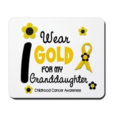 I Wear Gold 12 Granddaughter Mousepad