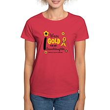 I Wear Gold 12 Granddaughter Tee
