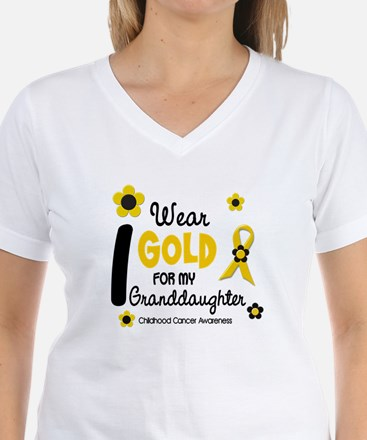 I Wear Gold 12 Granddaughter Shirt