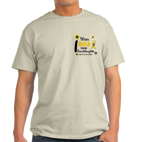 I Wear Gold 12 Granddaughter Light T-Shirt