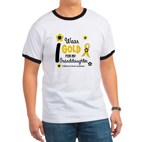 I Wear Gold 12 Granddaughter Ringer T