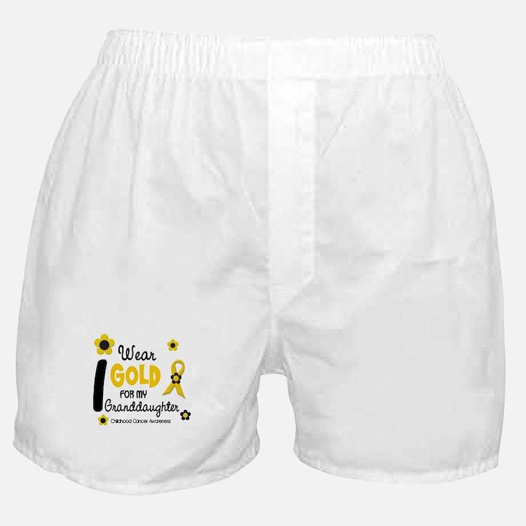 I Wear Gold 12 Granddaughter Boxer Shorts