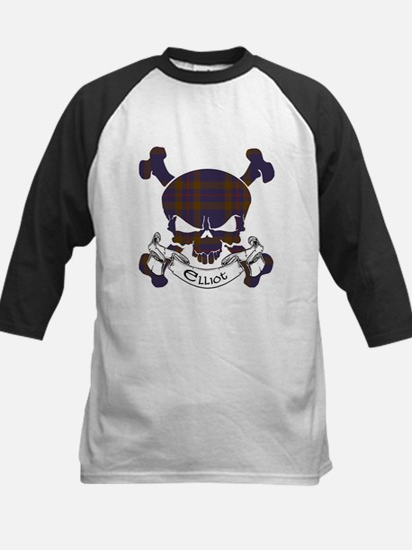 Elliot Tartan Skull Kids Baseball Jersey