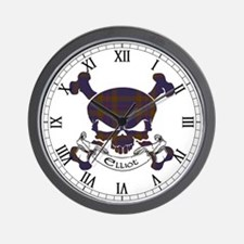Elliot Tartan Skull Wall Clock