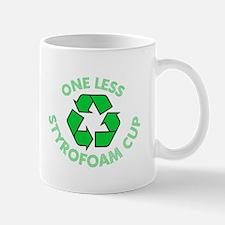 One Less Styrofoam Cup Mug