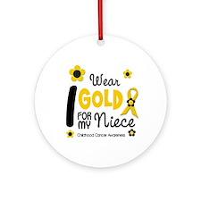 I Wear Gold 12 Niece CHILD CANCER Ornament (Round)