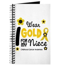 I Wear Gold 12 Niece CHILD CANCER Journal