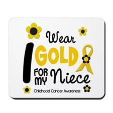 I Wear Gold 12 Niece CHILD CANCER Mousepad