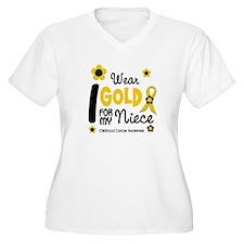 I Wear Gold 12 Niece CHILD CANCER T-Shirt