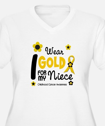 I Wear Gold 12 Niece CHILD CANCER T-Shirt