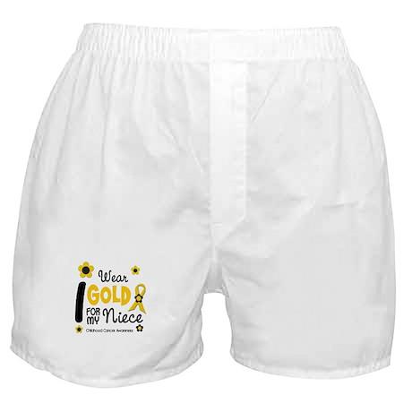 I Wear Gold 12 Niece CHILD CANCER Boxer Shorts