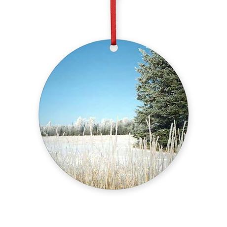 Frosty Fields & Trees Ornament (Round)