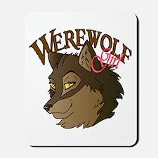 Werewolf Girl Mousepad