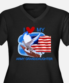 Love My Army Granddaughter Women's Plus Size V-Nec