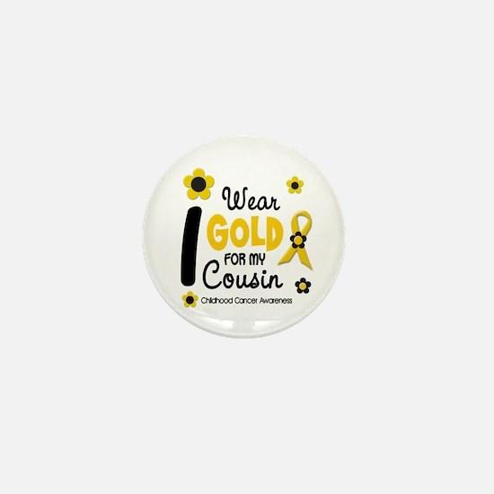 I Wear Gold 12 Cousin CHILD CANCER Mini Button