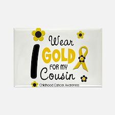 I Wear Gold 12 Cousin CHILD CANCER Rectangle Magne