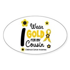 I Wear Gold 12 Cousin CHILD CANCER Oval Decal