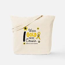 I Wear Gold 12 Cousin CHILD CANCER Tote Bag