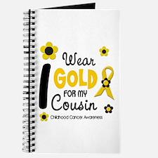 I Wear Gold 12 Cousin CHILD CANCER Journal