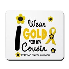 I Wear Gold 12 Cousin CHILD CANCER Mousepad