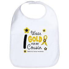 I Wear Gold 12 Cousin CHILD CANCER Bib