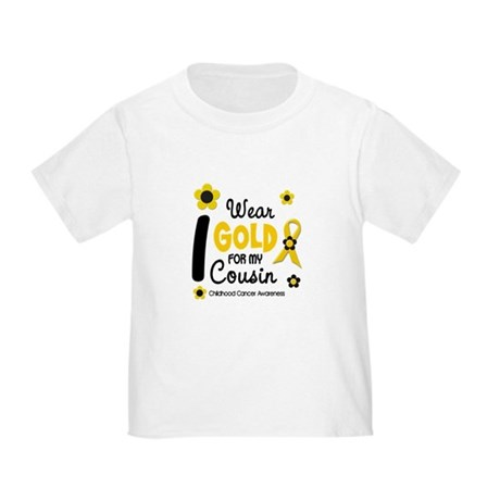 I Wear Gold 12 Cousin CHILD CANCER Toddler