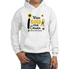 I Wear Gold 12 Cousin CHILD CANCER Hoodie